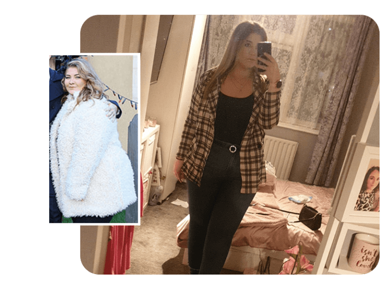 Image of Georgia's weight loss surgery transformation from before her gastric band procedure until now after losing over 5 stone
