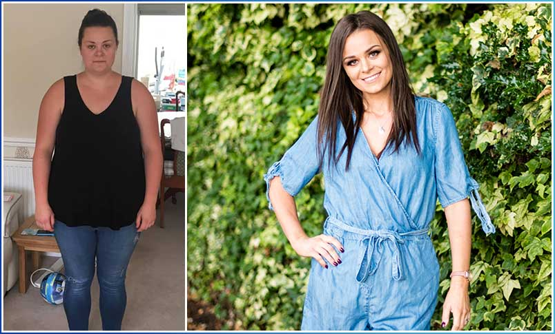 Image of Healthier Weight success story Sarah before and after having gastric sleeve surgery