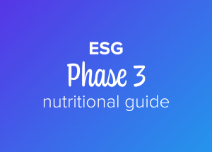 ESG phase 3 nutritional guide