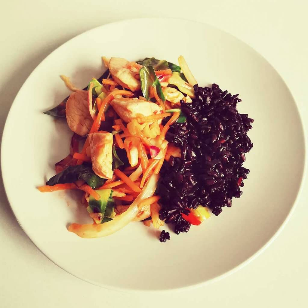 Chicken and vegetable stir fry by dietitian Heather Fry, perfect for after weight loss surgery